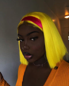 Pinwigs Hair Yellow Bob Full Lace Wig/Lace Front Wig , Pre Order take 5-7 Business Days to Customize