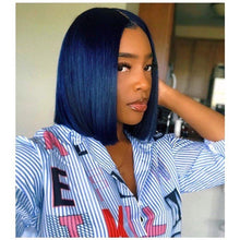 Load image into Gallery viewer, Pinwigs Hair Blue Bob Full Lace Wig/Lace Front Wig , Pre Order take 5-7 Business Days to Customize