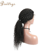 Load image into Gallery viewer, Pinwigs Curly 360 Lace Frontal 100% Human Hair ,Natural Color