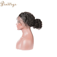 Load image into Gallery viewer, Pinwigs Deep Wave 360 Lace Frontal 100% Human Hair ,Natural Color