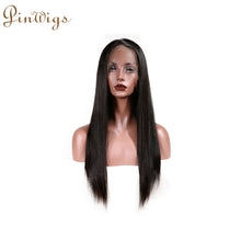 Load image into Gallery viewer, 360 Wig Straight Human Hair Pre Plucked Hairline With Full Ends