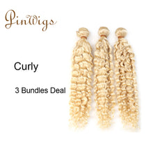 Load image into Gallery viewer, Pinwigs 613 Blonde Curly Hair 3 Bundles Deal ,100% Human Hair ,Free Shipping