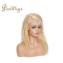 Load image into Gallery viewer, Pinwigs 613 Blonde Hair Curly Full Lace Wig , 100% Human Hair, Pre Order take 5-7 Business Days to Customize