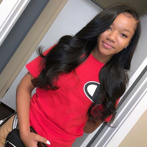 360 Wig Body Wave Human Hair Pre Plucked Hairline