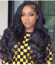 Load image into Gallery viewer, Pinwigs Body Wave Silk Base Closure 100% Human Hair ,Natural Color
