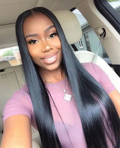 Pinwigs Straight Lace Closure 100% Human Hair 2*6 Lace Closure ,Natural Color