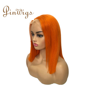 Pinwigs Hair Orange Bob Full Lace Wig/Lace Front Wig , Pre Order take 5-7 Business Days to Customize