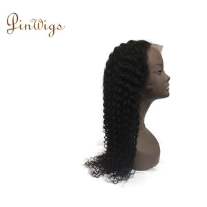 Deep Curly Lace Front Wig 100% Virgin Hair Wig