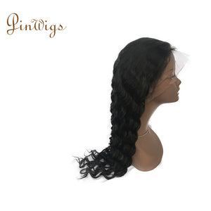 Deep Wave Full Lace Wig Pre Plucked Hairline With Full Ends