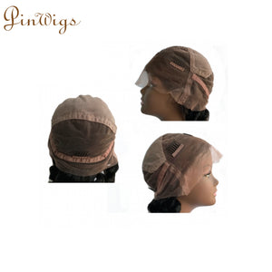 Bob With Bangs Swiss Lace Human Hair Full Lace Wig