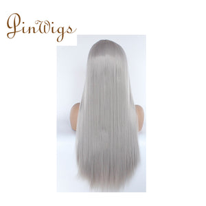 Pinwigs Gery Body Wave/Straight Full Lace Wig , 100% Human Hair, Pre Order take 5-7 Business Days to Customize