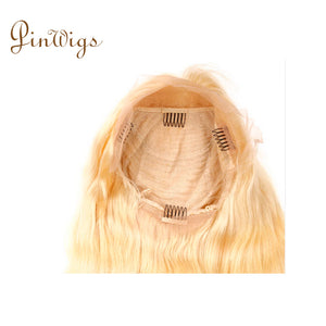 613 Blonde Body Wave Lace Front Wig Pre Plucked