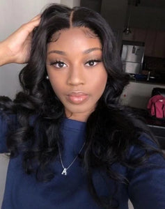 Pre Plucked Loose Wave Lace front Wig With Baby Hair