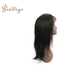 Straight Human Hair Lace Front Wig With Natural Hairline