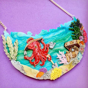 Octopus Garden Statement Necklace by Gory Dorky