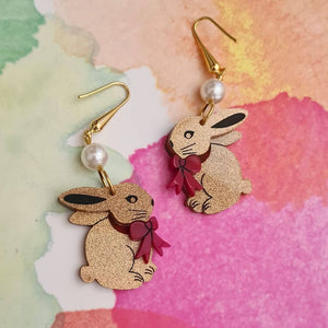 Chocolate Bunny Earrings by LaliBlue