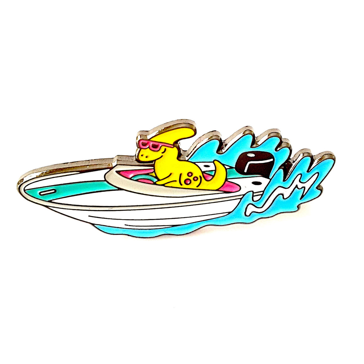 Speedboat Dino Pin by Designosaur