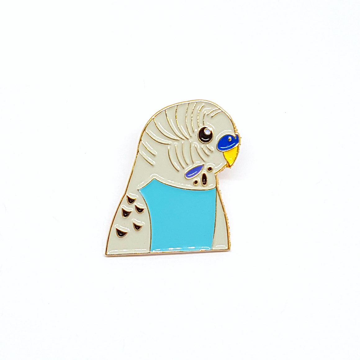 Blue Budgie Enamel Pin by Patch Press