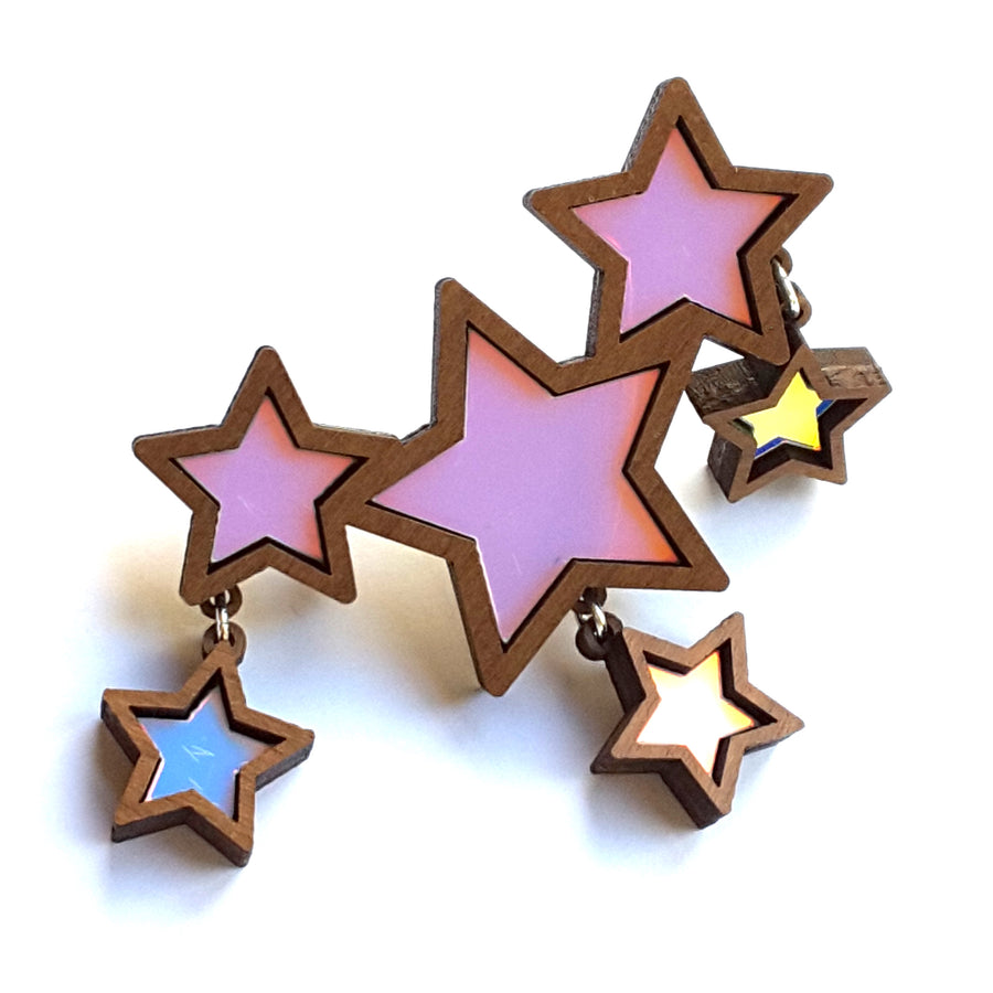 Iridescent Shooting Star Brooch by Esoteric London