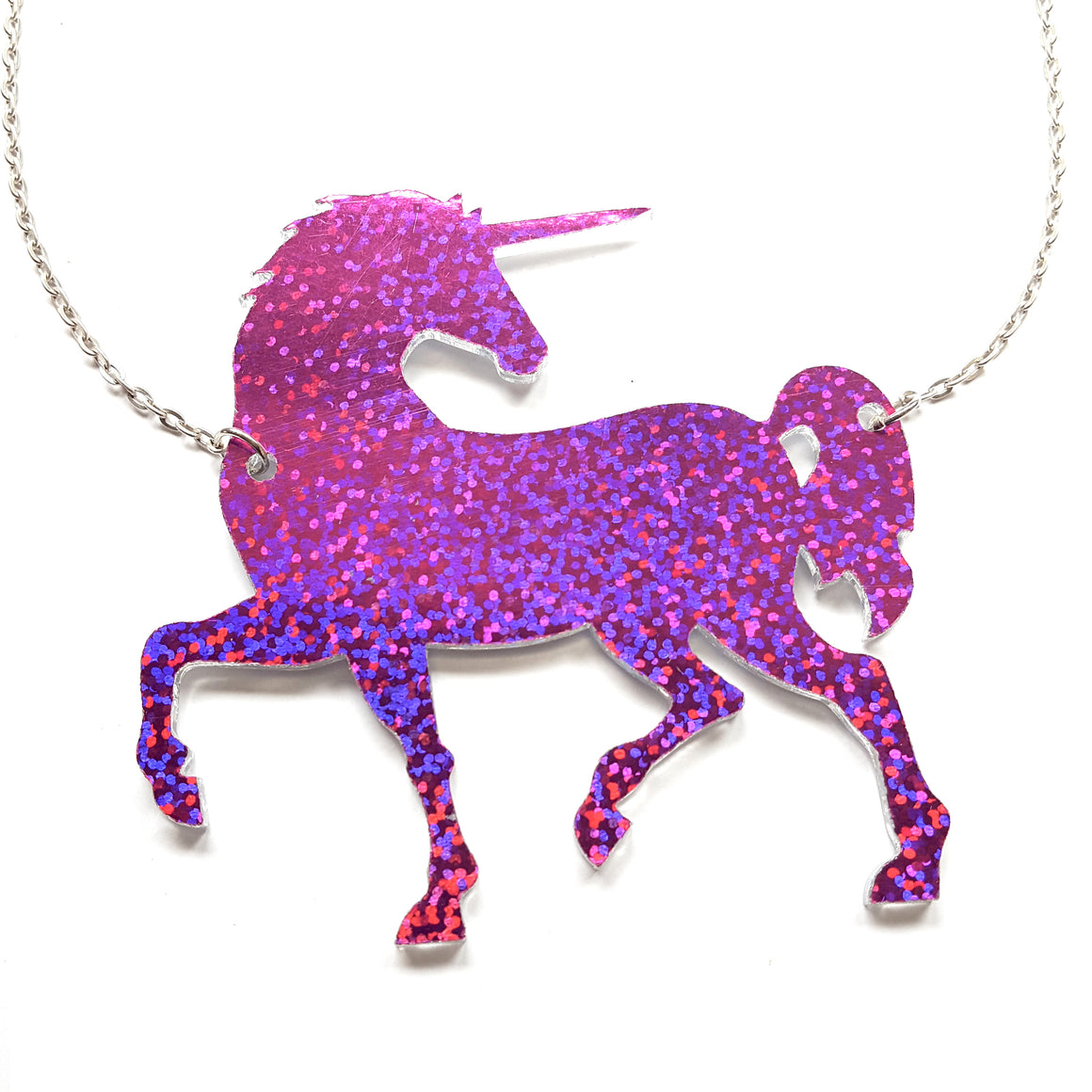 Sparkle Unicorn Necklace by Panika (double sided)