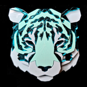 Tiger Head Brooch (Aqua Kingdom) by Sstutter