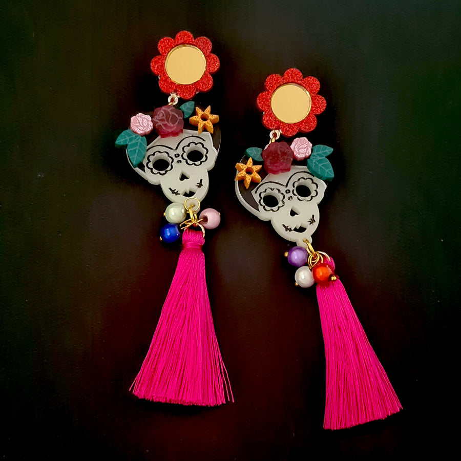 Catrinas Day of the Dead Earrings (V3)  by LaliBlue