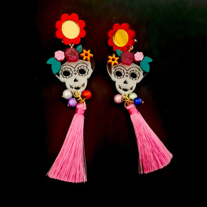 Catrinas Day of the Dead Earrings (V4)  by LaliBlue