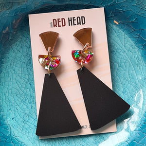 Pendulum Drops Earrings by Little Red Head