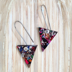 Carnival Triangles Earrings by Little Red Head