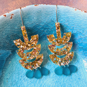 Moonbeam Tribal Dangles Earrings by Little Red Head