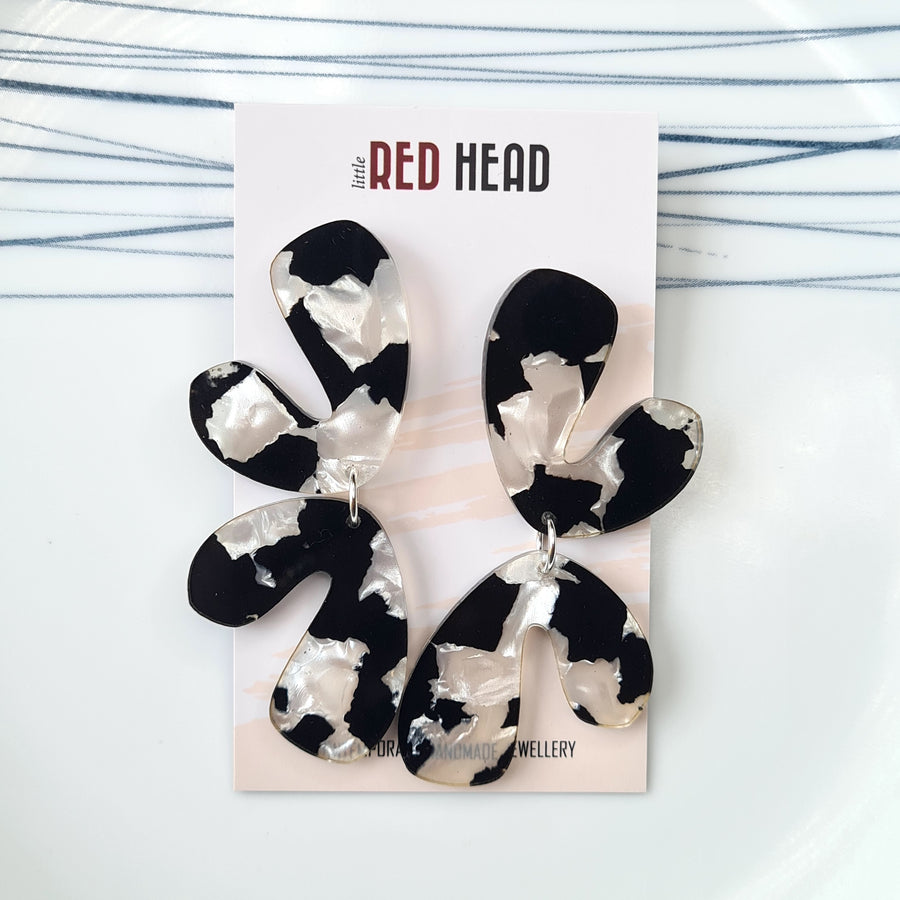 Moo Cow Drops Earrings by Little Red Head