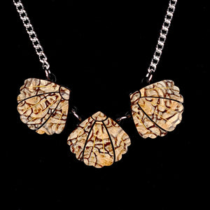 Triple Shell Necklace (Brown) by Lou Taylor