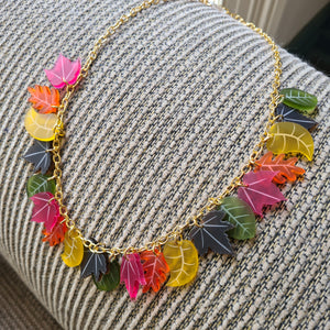 Autumn Leaves Necklace by Sugar and Vice