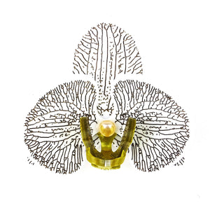 Gold Orchid Brooch by MissJ
