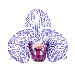 Purple Orchid Brooch by MissJ