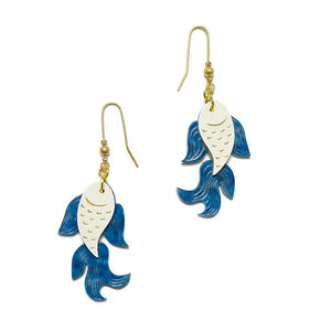 Fish Earrings by LaliBlue