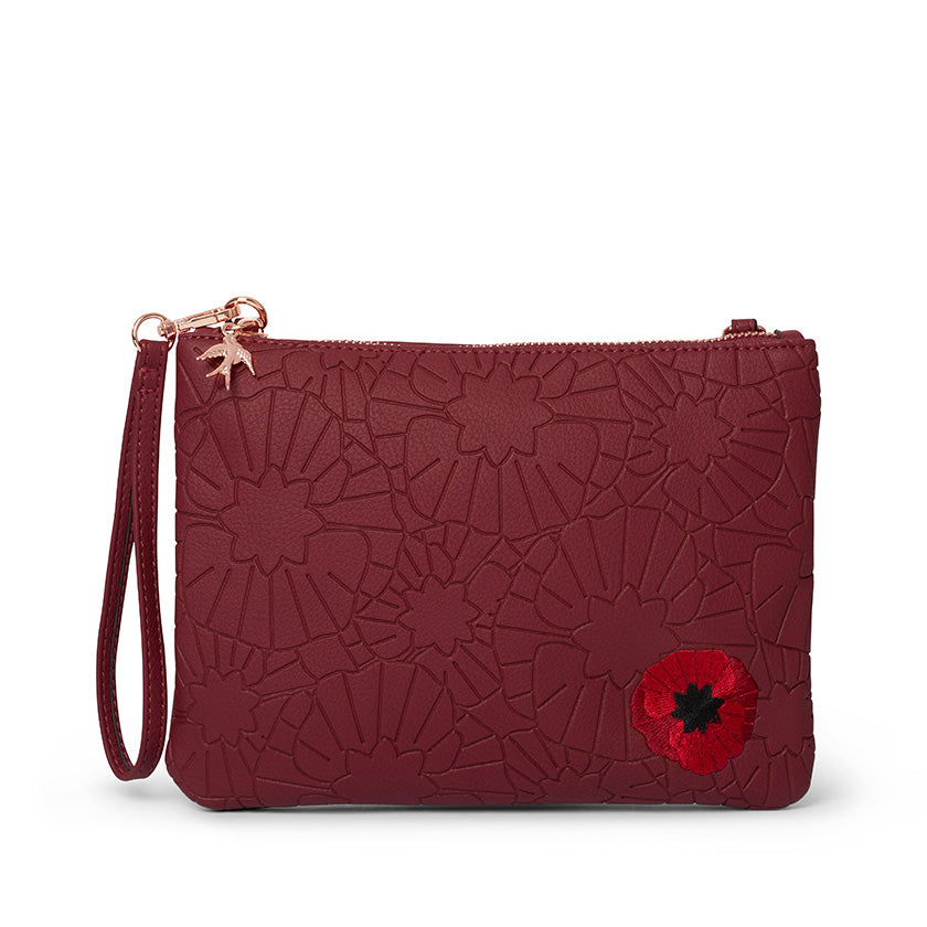 Poppy Field Clutch by Erstwilder