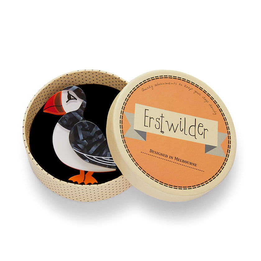 Piccolo Puffin Brooch by Erstwilder