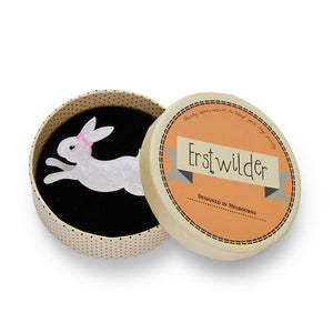 Marshmallow Rabbit Brooch by Erstwilder
