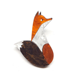 Mr Fantastic Fox Brooch by Erstwilder