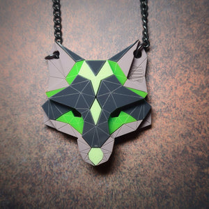 Fox Head Necklace (Mojito) by Sstutter