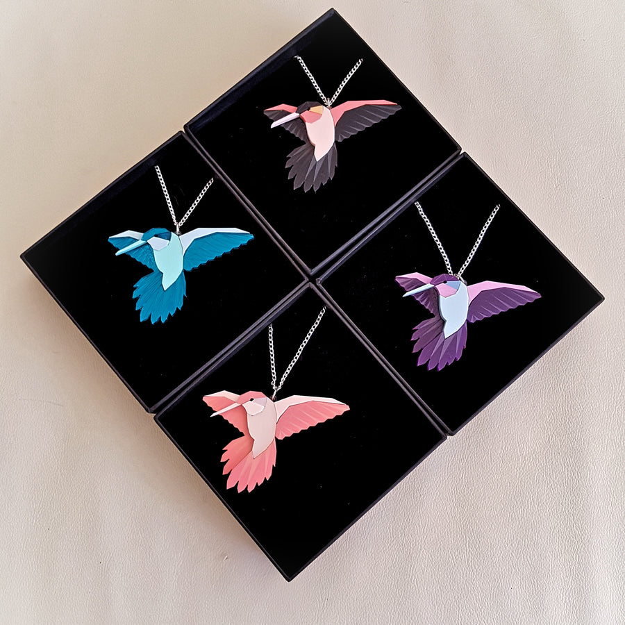 Hummingbird Necklace by Sstutter