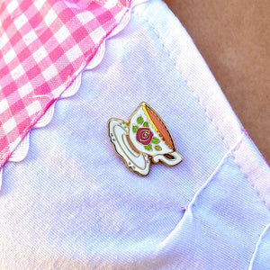 Telltale Teacup Enamel Pin by Erstwilder