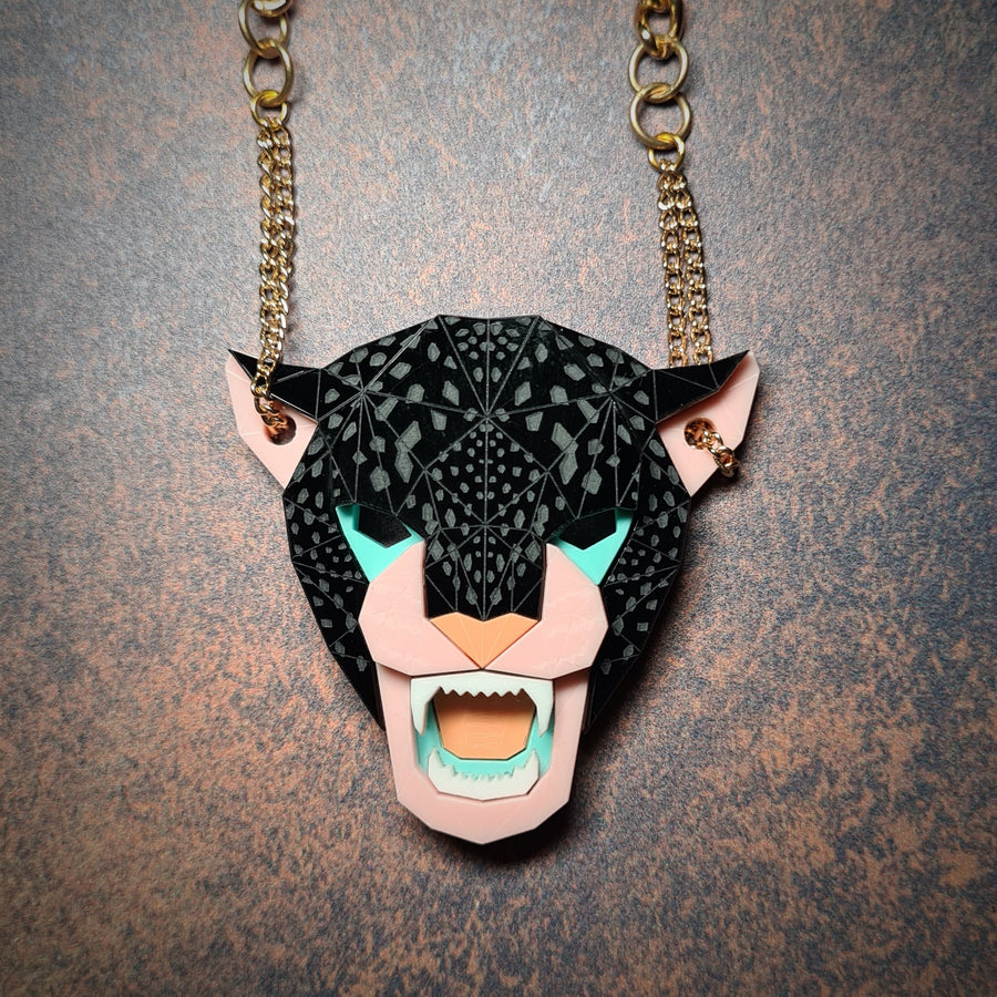 Jaguar Head Necklace (Ambush) by Sstutter