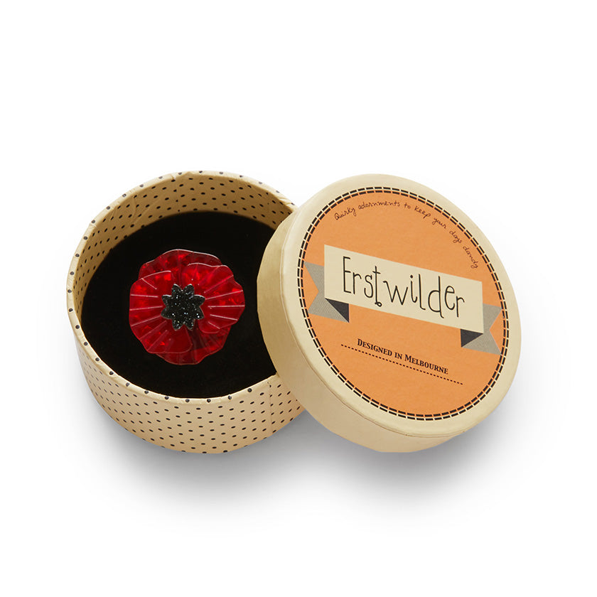 Poppy Field Mini Brooch by Erstwilder