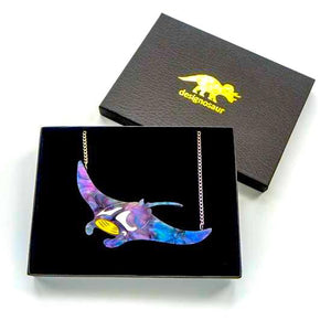 Manta Ray Necklace by Designosaur