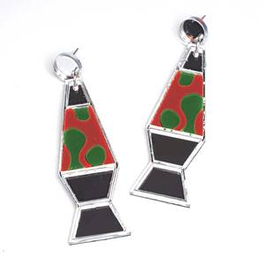 Mirror Lava Lamp Earrings by No Basic Bombshell