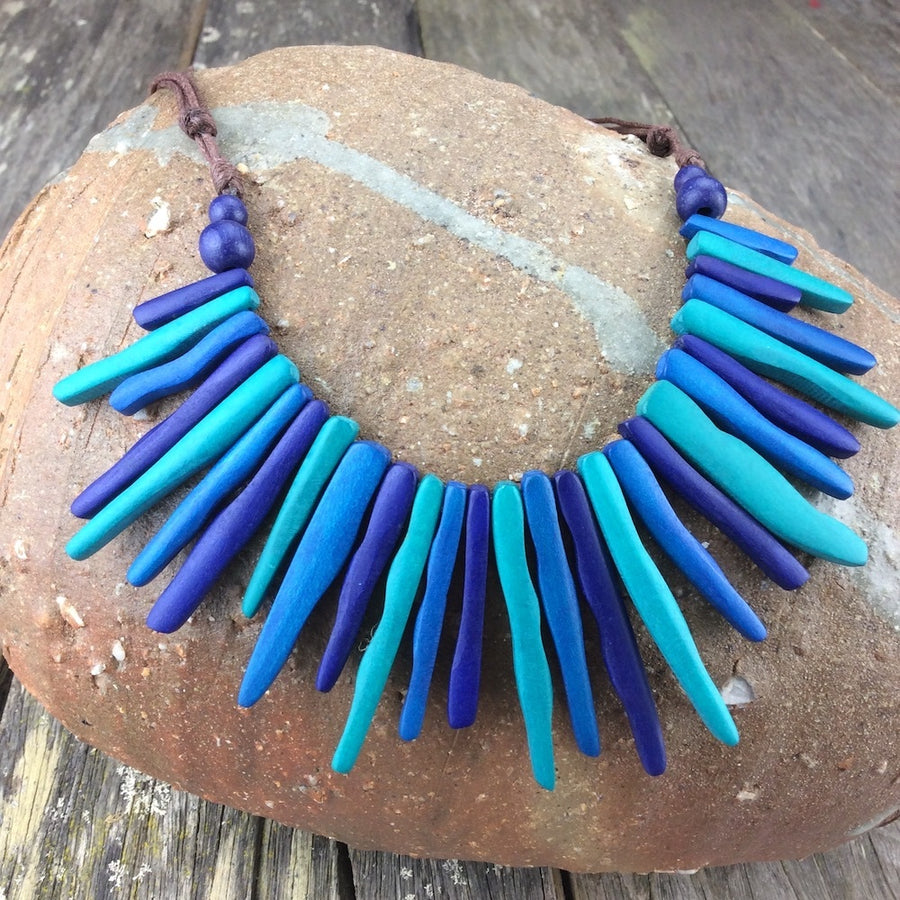 Electric Blues Radiance Necklace by Cool Coconut