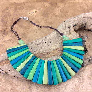 Greens Combination Sticks Short Necklace by Cool Coconut