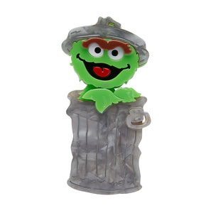 Oscar the Grouch Brooch by Erstwilder